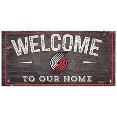 Portland Trail Blazers Welcome Sign Wall Art
