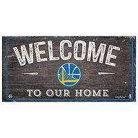 Golden State Warriors Welcome Sign Wall Art