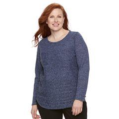 Plus Size Croft & Barrow® Marled Sweater