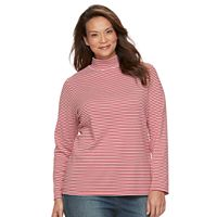Plus Size Croft & Barrow® Mockneck Long Sleeve Tee