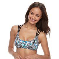 Geometric Strappy Bikini Top