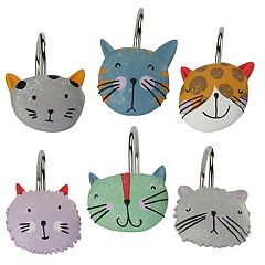 Creative Bath Kitty Shower Curtain Hooks