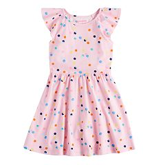 Girls 4-10 Jumping Beans® Flutter Sleeve Skater Dress