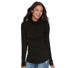 Juniors' SO® Long Sleeve Turtleneck Top