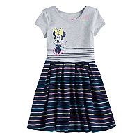 Disney's Minnie Mouse Girls 4-10 Striped Skater Dress by Jumping Beans®
