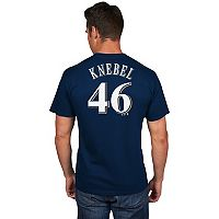 Men's Majestic Milwaukee Brewers Corey Knebel Name and Number Tee