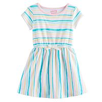 Toddler Girl Jumping Beans® Striped Cinched Waist Skater Dress