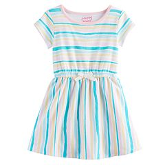 Toddler Girl Jumping Beans® Striped Cinched Waist Skater Dress