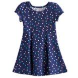 Toddler Girl Jumping Beans® Printed Curved Seam Skater Dress