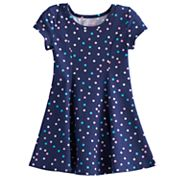 Toddler Girl Jumping Beans® Printed Curved Seam Skater Dress
