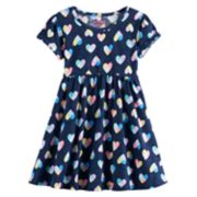 Toddler Girl Jumping Beans® Roll Cuff Shirred Dress