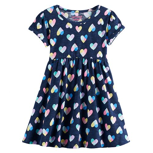 Toddler Girl Jumping Beans® Roll Cuff Shirred Dress