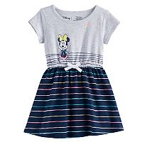 Disney's Minnie Mouse Toddler Girl Cinched Waist Skater Dress