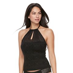 Women's Apt. 9® Crochet High Neck Tankini Top