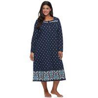 Plus Size Croft & Barrow® Pajamas: Pintuck Long Sleeve Nightgown