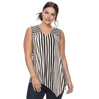 Plus Size Dana Buchman Asymmetrical Tank Top