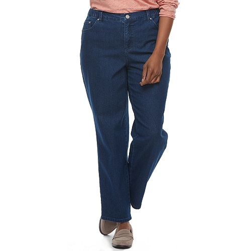 Plus Size Just My Size Comfort Stretch Straight-Leg Jeans
