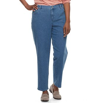 bafda11eb08 Plus Size Just My Size Comfort Stretch Straight-Leg Jeans