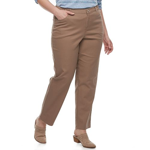 5b7b3b55ad3 Plus Size Just My Size Comfort Stretch Straight-Leg Jeans