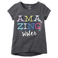 Toddler Girl Carter's Short-Sleeve Slubbed Graphic Tee