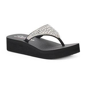 8057a83a6cc4 Women s Skechers Meditation Beaded Slingback Thong Sandals. (6). Sale