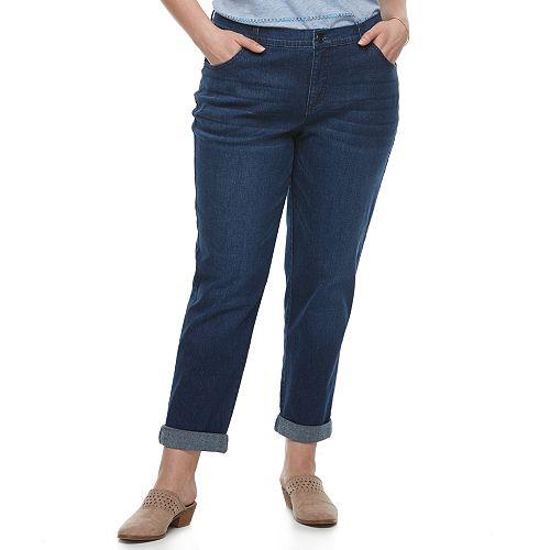 Plus Size Just My Size Boyfriend Jeans