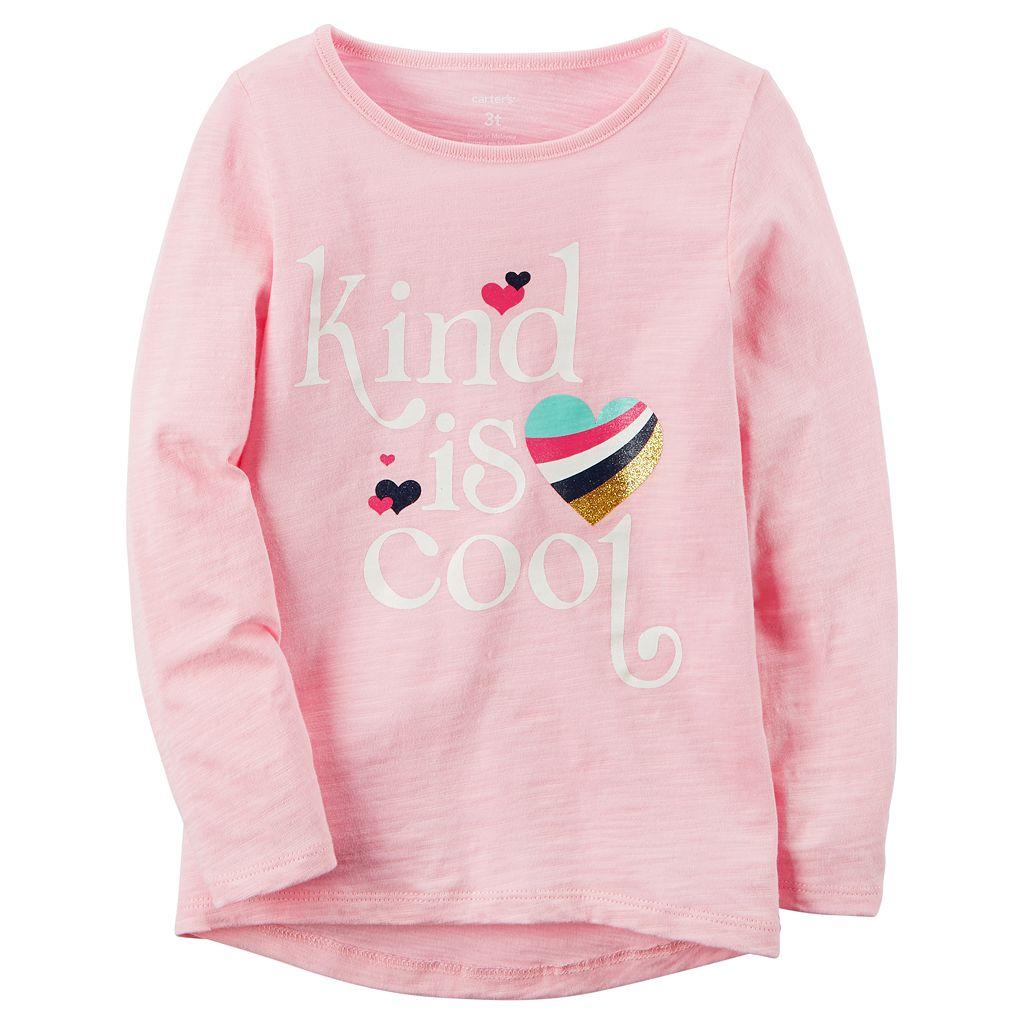 Toddler Girl Carter's Long-Sleeve Slubbed Graphic Tee