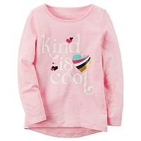 Toddler Girl Carter's Long-Sleeve Slubbed Graphic Tee