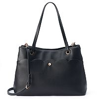 LC Lauren Conrad Ciel Scalloped Tote