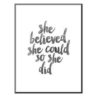 "Art.com ""She Believed She Could So She Did"" Mounted Wall Art Print"