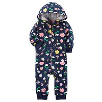 Baby Girl Carter's Print Hooded Coverall