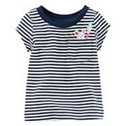 Baby Girl Carter's Striped Graphic Pocket Short-Sleeve Tee