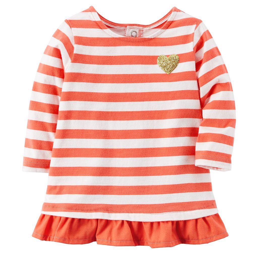 Baby Girl Carter's Striped Ruffle-Hem Top