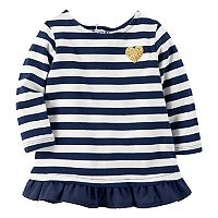 Baby Girl Carter's Striped Ruffle-Hem Top