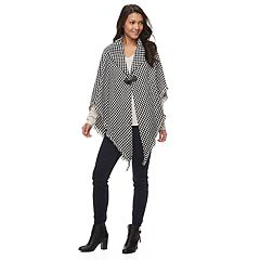 Manhattan Houndstooth Cape