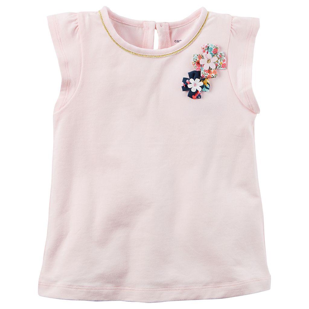 Baby Girl Carter's Rosette Flutter-Sleeve Tee