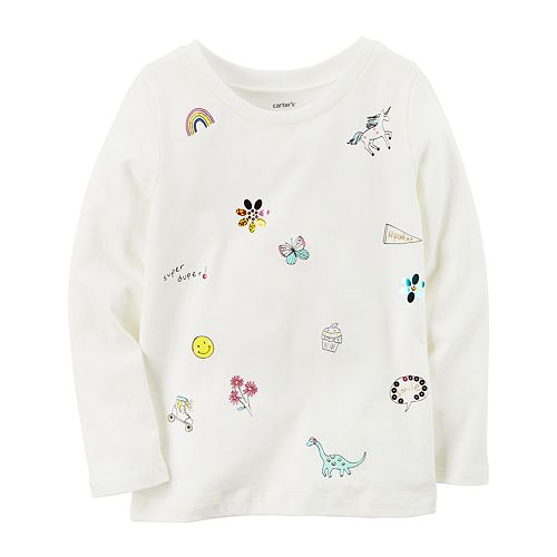 Baby Girl Carter's Graphic Long-Sleeve Tee