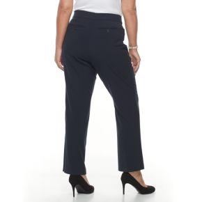 Plus Size Croft & Barrow® Curvy Fit Straight-Leg Trousers