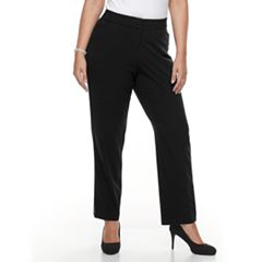 Plus Size Croft & Barrow® Curvy Fit Straight-Leg Trousers