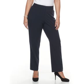 Plus Size Croft & Barrow® Straight Leg Trousers
