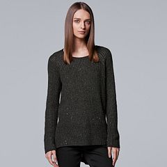 Women's Simply Vera Vera Wang Sequin Crewneck Sweater