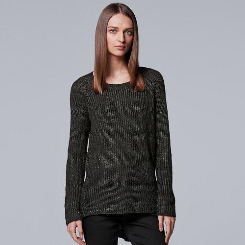 Women's Simply Vera Vera Wang Sequin Crewneck Sweater