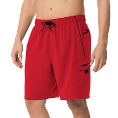 Big & Tall Speedo Marina Brushed Microfiber Volley Swim Shorts - Extended Size