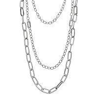 Triple Chain Layered Necklace