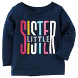 Baby Girl Carter's Glitter Graphic Long-Sleeve Tee