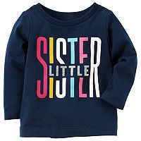 Baby Girl Carter's Glitter Graphic Long-Sleeve Tee