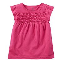 Baby Girl Carter's Smocked Flutter-Sleeve Top