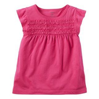 Baby Girl Carter's Smocked Flutter-Sleeve Top