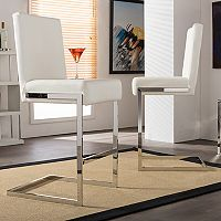 Baxton Studio Toulan Faux-Leather Counter Stool 2-piece Set