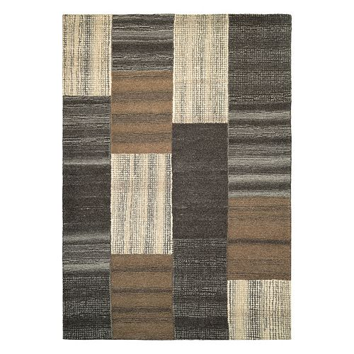 Couristan Super Indo-Natural Luster Geometric Wool Rug
